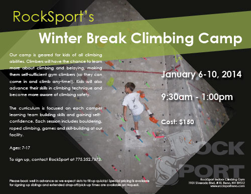 Winter Climbing Camp RockSport 2013